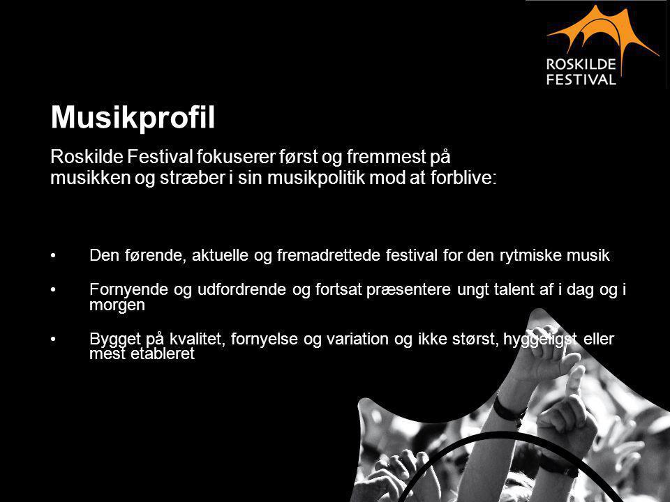 Musikprofil Roskilde Festival fokuserer først og fremmest på
