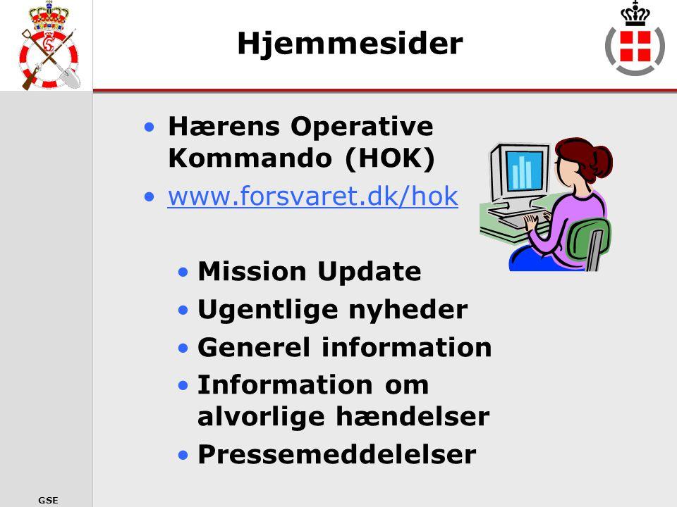 Hjemmesider Hærens Operative Kommando (HOK) www.forsvaret.dk/hok