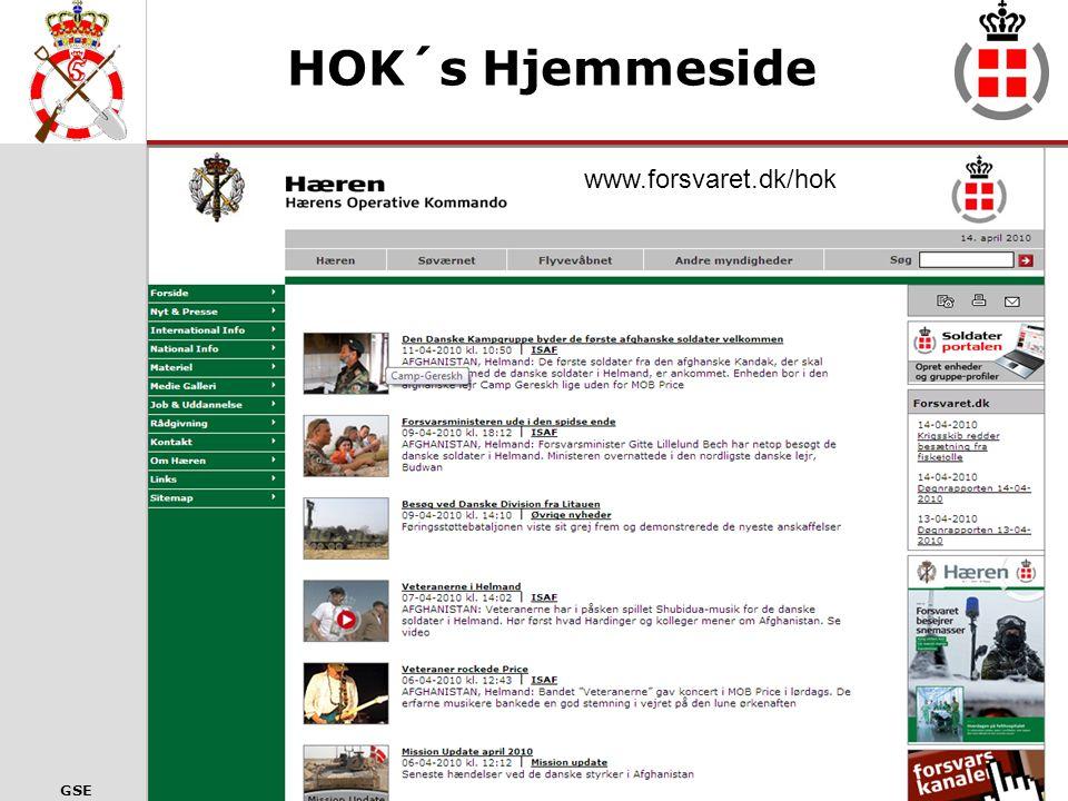 HOK´s Hjemmeside www.forsvaret.dk/hok www.forsvaret.dk/HOK