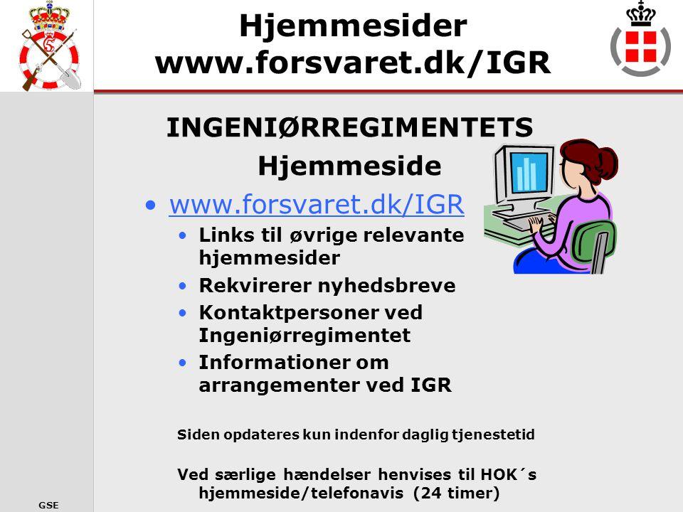 Hjemmesider www.forsvaret.dk/IGR
