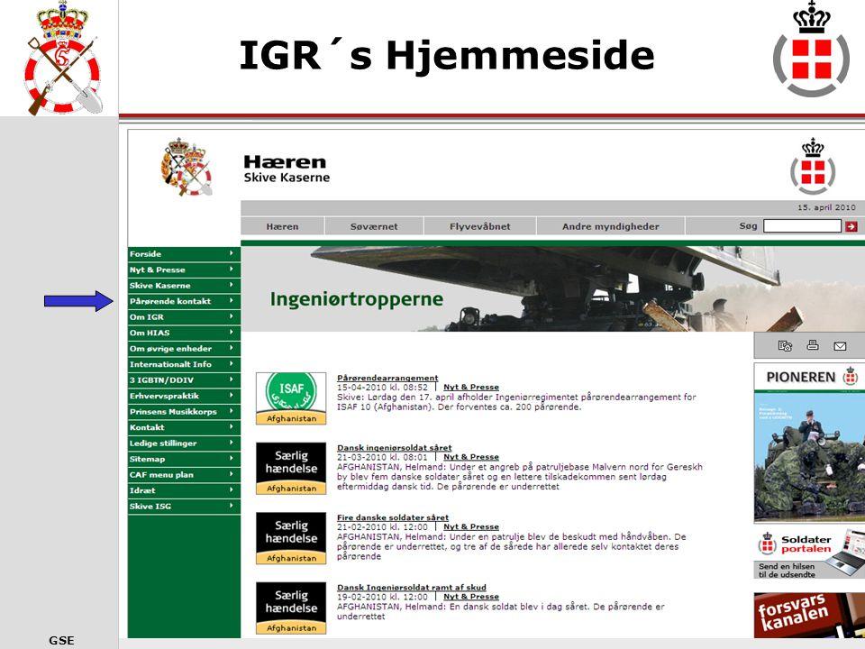 IGR´s Hjemmeside Gå ind under pårørende kontakt 19