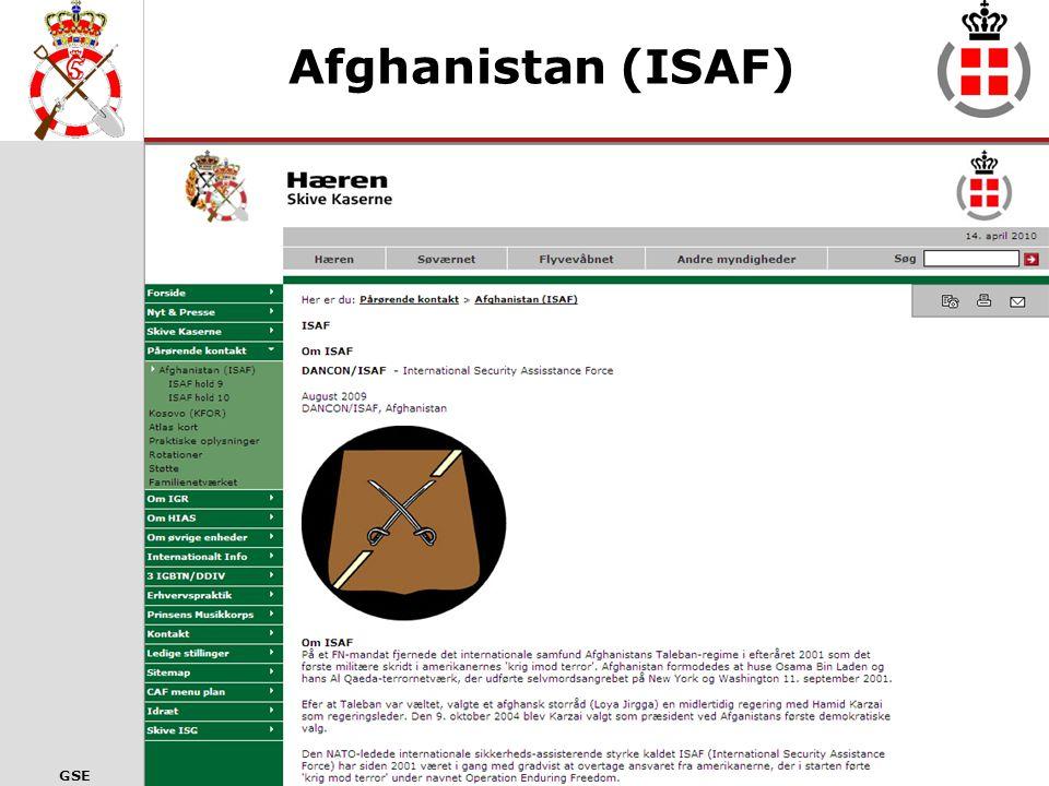 Afghanistan (ISAF) Informationer om ISAF mission 21