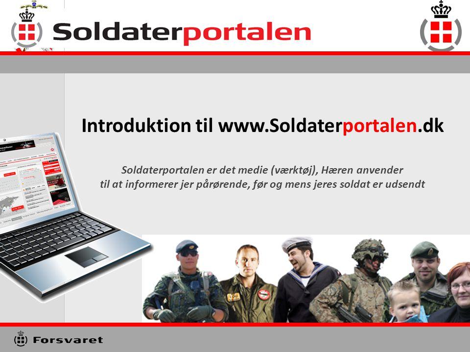 Introduktion til www.Soldaterportalen.dk