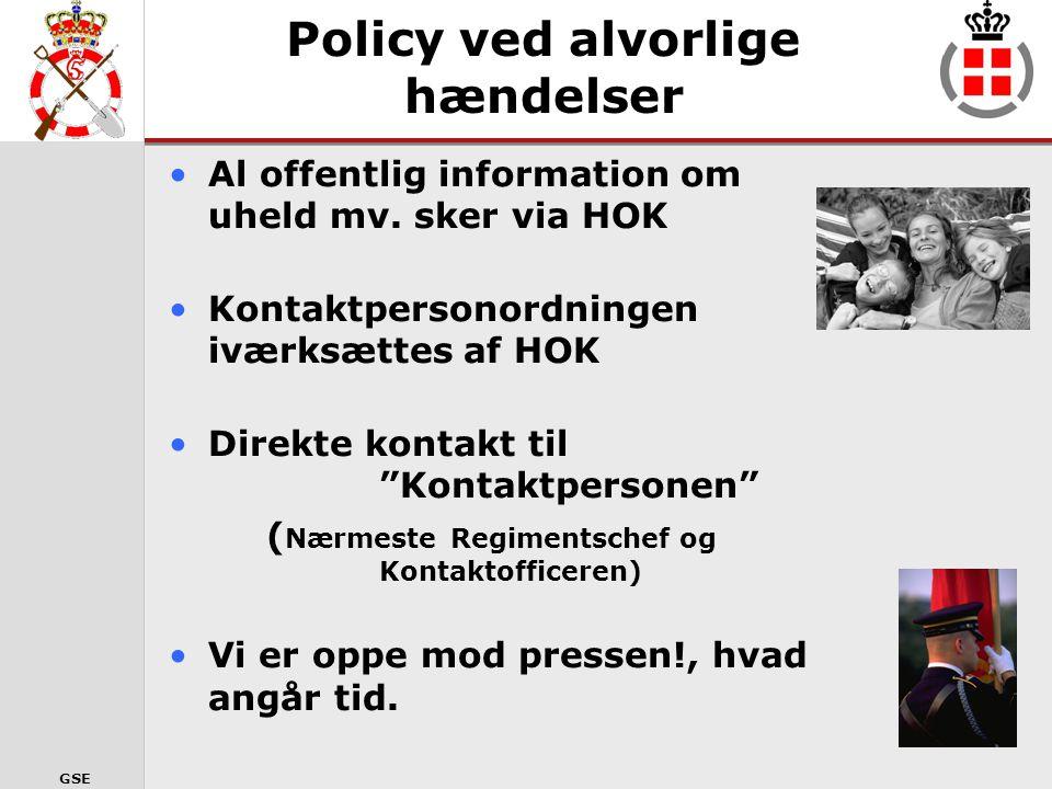 Policy ved alvorlige hændelser