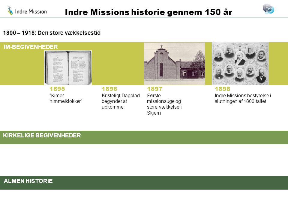 1890 – 1918: Den store vækkelsestid