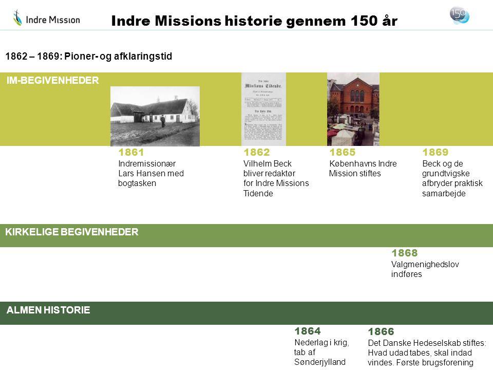 1862 – 1869: Pioner- og afklaringstid