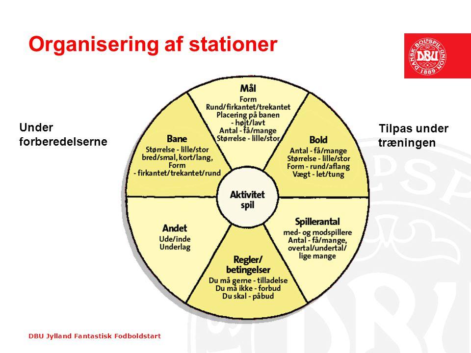 Organisering af stationer