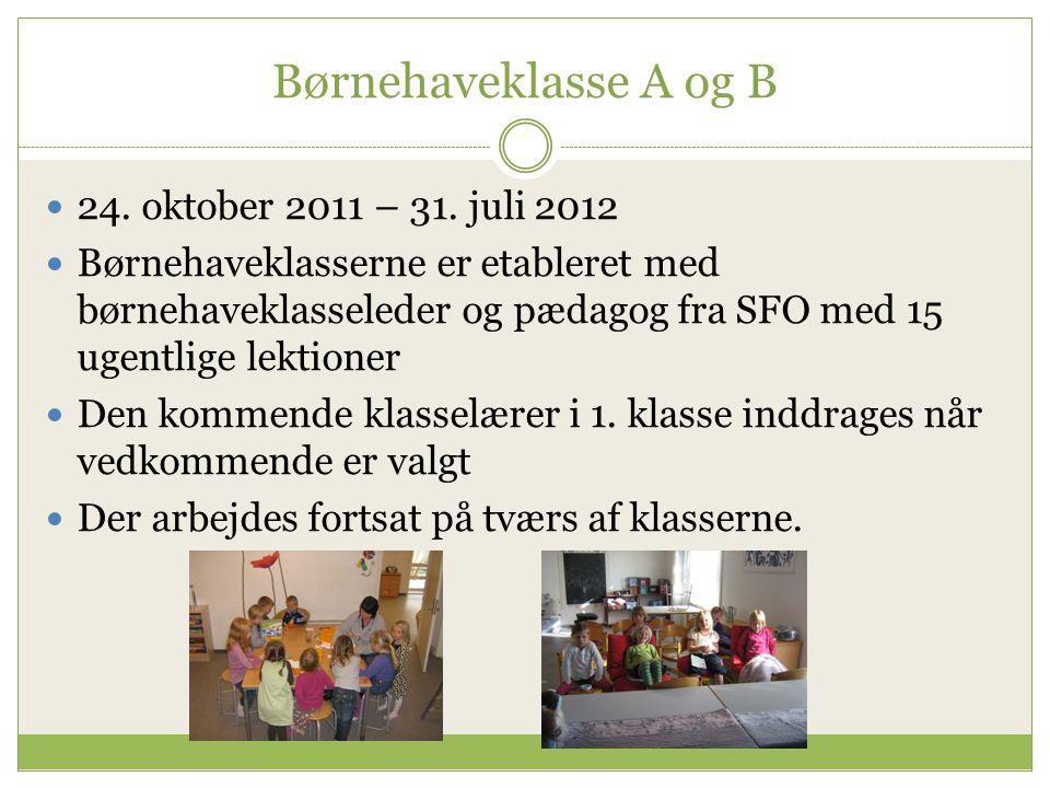 Børnehaveklasse A og B 24. oktober 2011 – 31. juli 2012