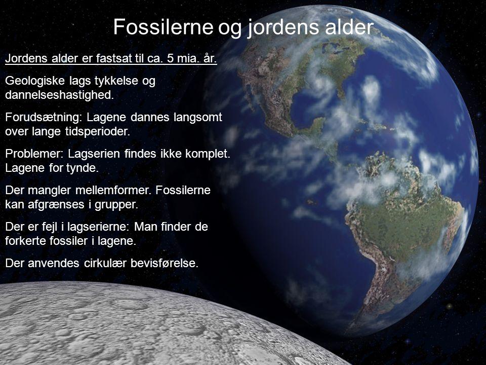 Fossilerne og jordens alder