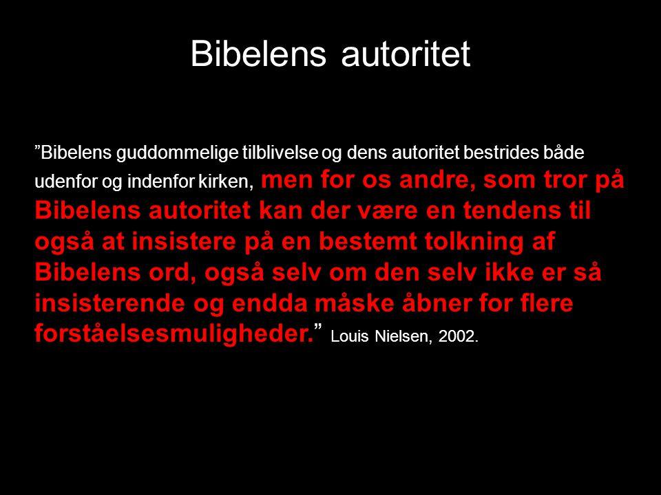 Bibelens autoritet