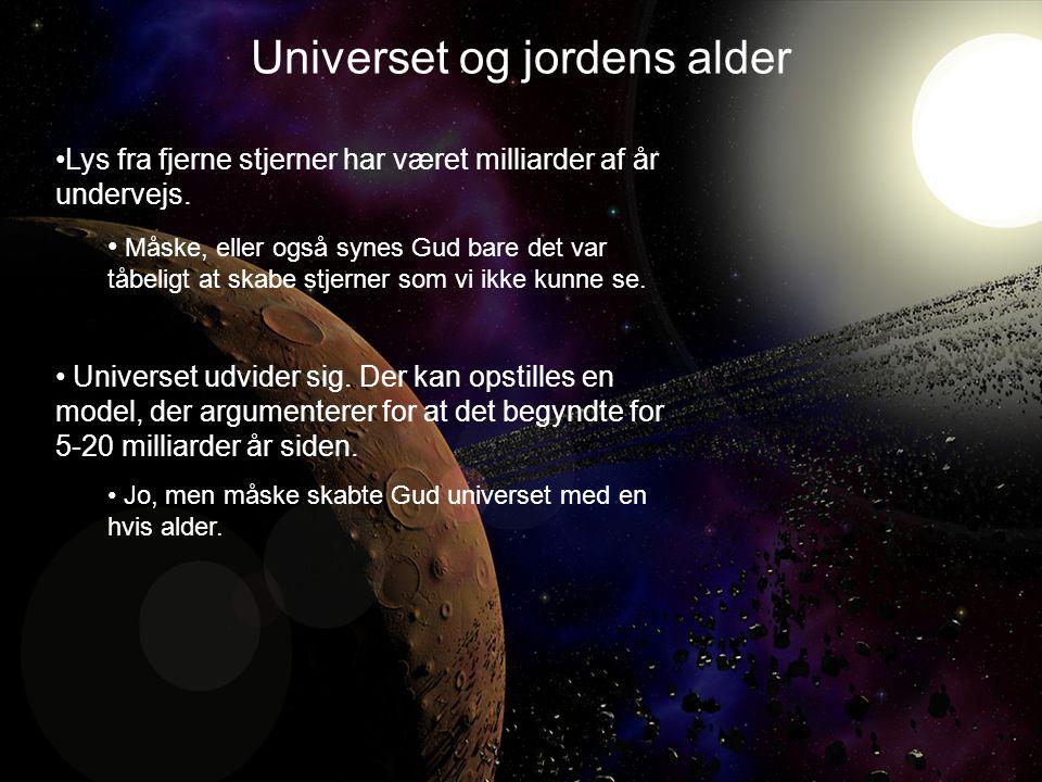 Universet og jordens alder