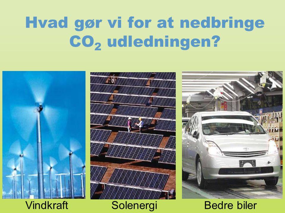 Hvad gør vi for at nedbringe CO2 udledningen