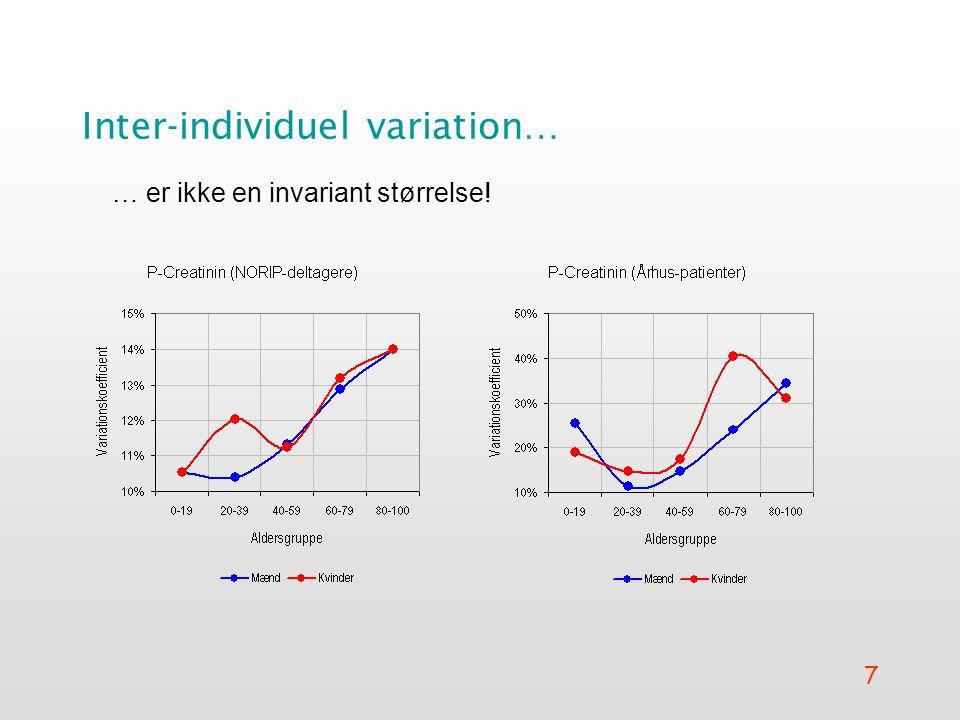 Inter-individuel variation…