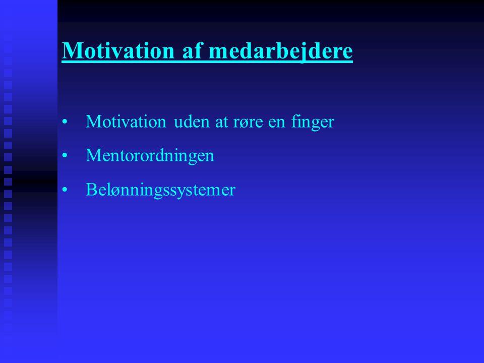 Motivation af medarbejdere
