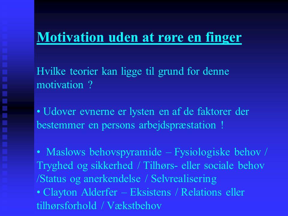 Motivation uden at røre en finger