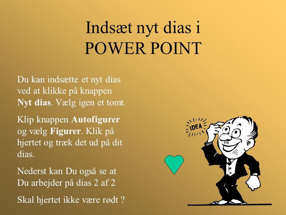 Indsæt nyt dias i POWER POINT