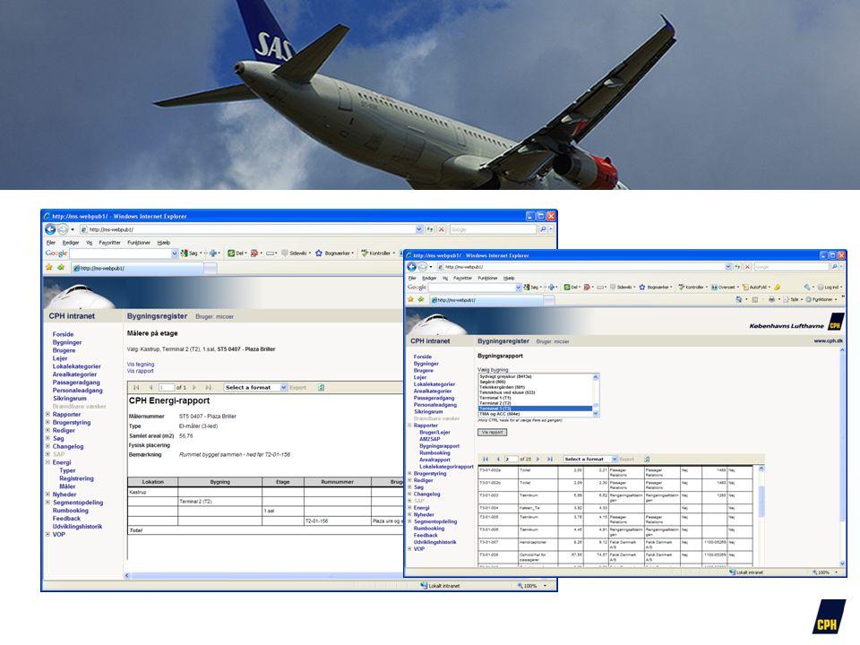 Forskellige rapport muligheder alt sammen gennem et web interface giver mulighed for at mange kan anvende systemet.