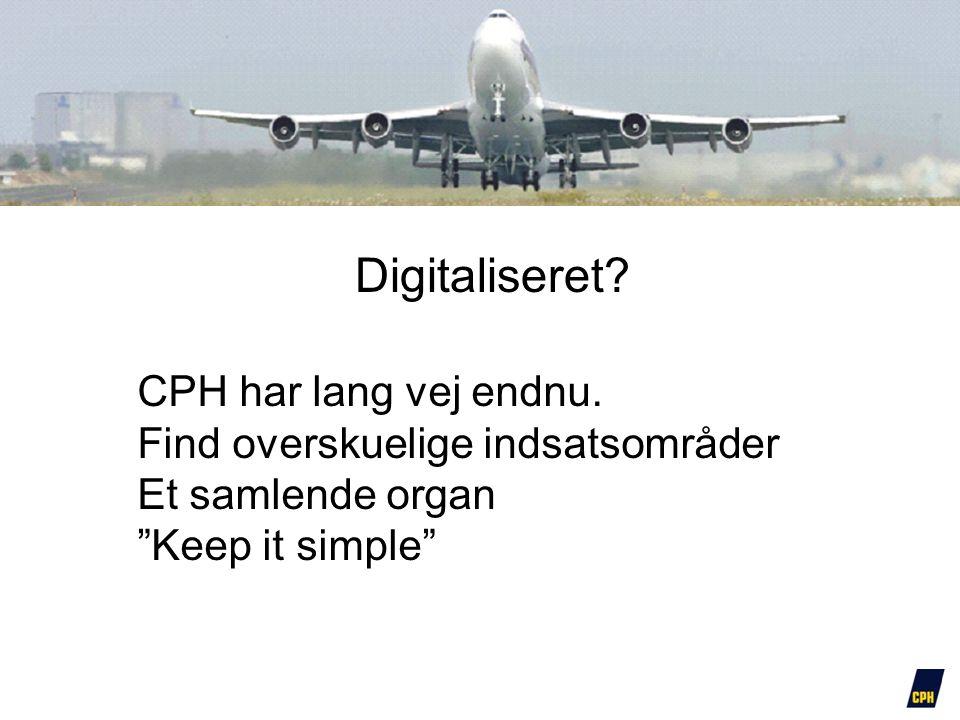 Digitaliseret CPH har lang vej endnu.