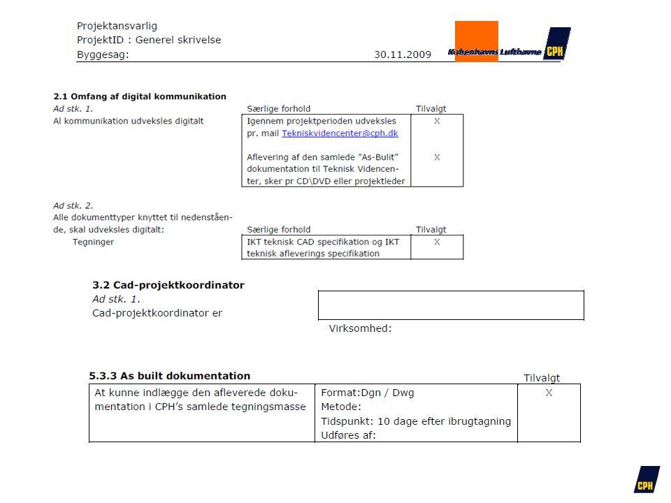 Den anvendte mail adresse og CAD kontaktpersonen hos rådgiver.