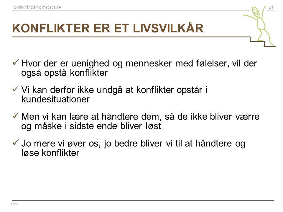 KONFLIKTER ER ET LIVSVILKÅR