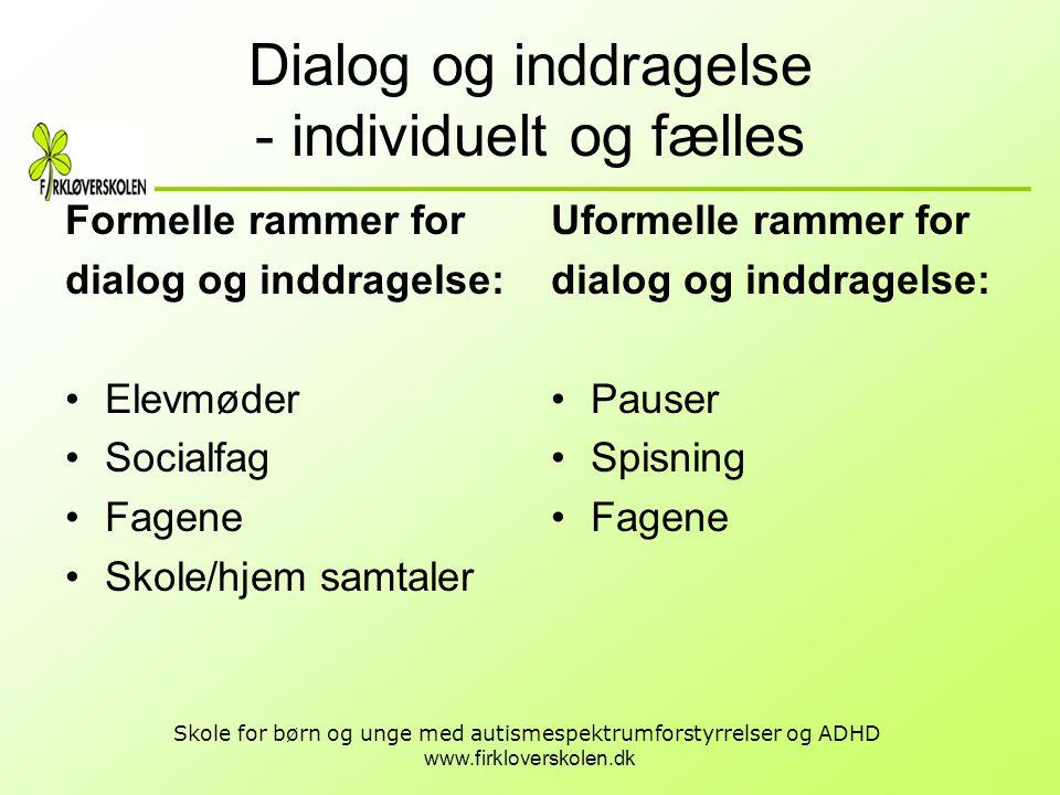 Dialog og inddragelse - individuelt og fælles