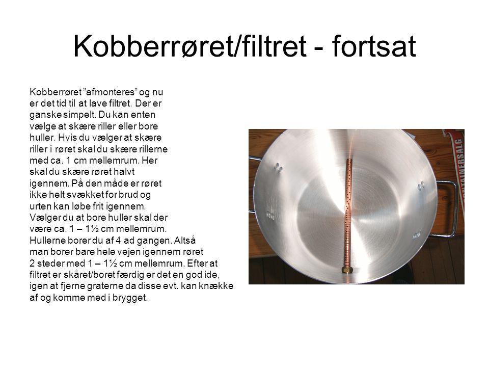 Kobberrøret/filtret - fortsat