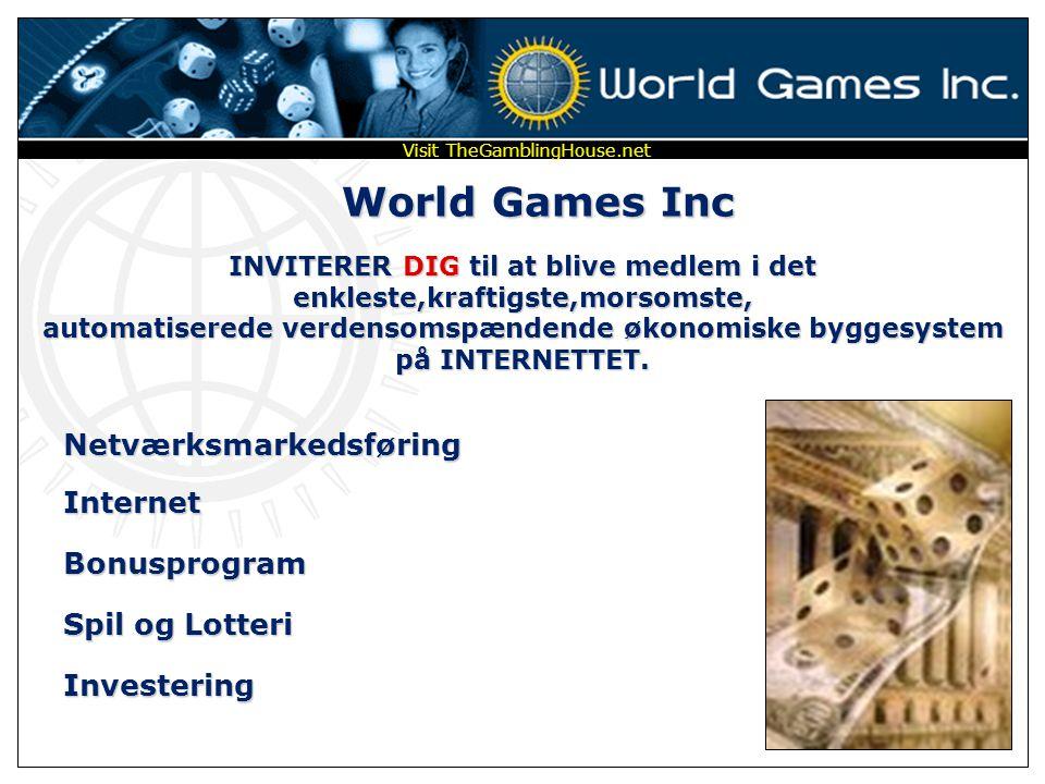 World Games Inc Netværksmarkedsføring Internet Bonusprogram