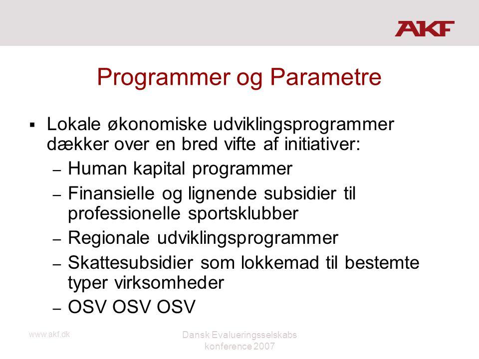 Programmer og Parametre
