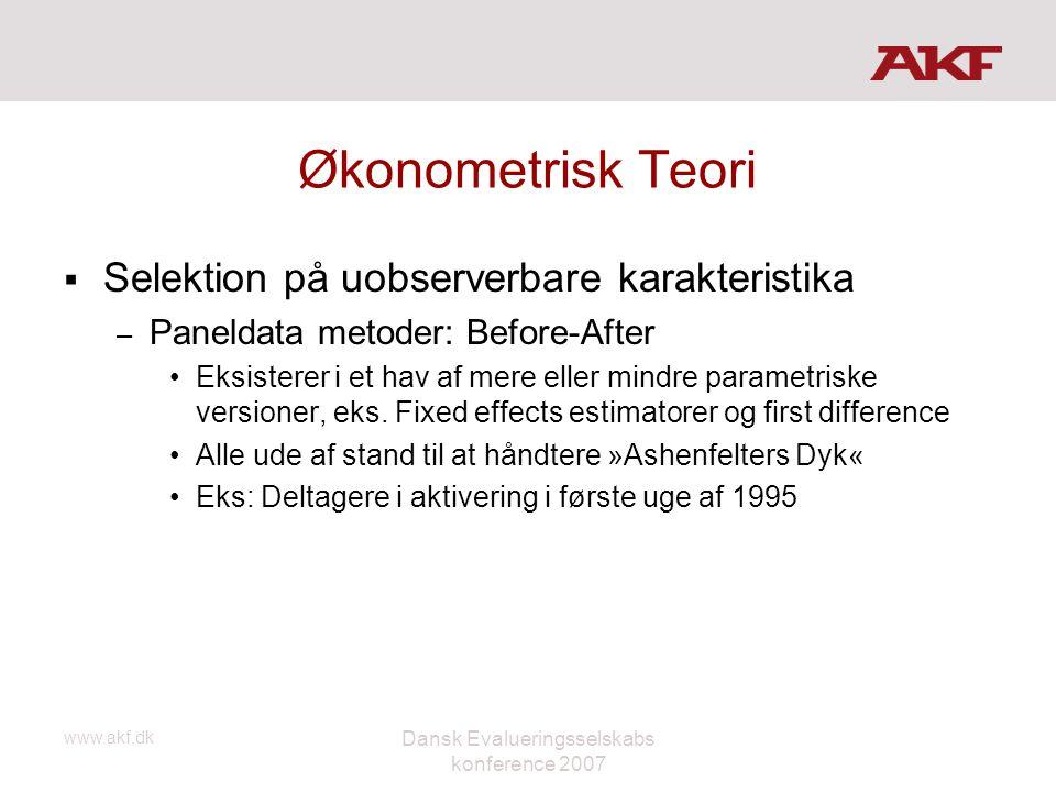 Dansk Evalueringsselskabs konference 2007