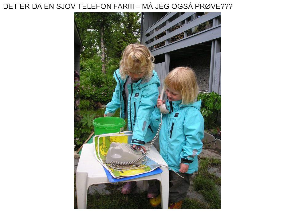 DET ER DA EN SJOV TELEFON FAR!!! – MÅ JEG OGSÅ PRØVE