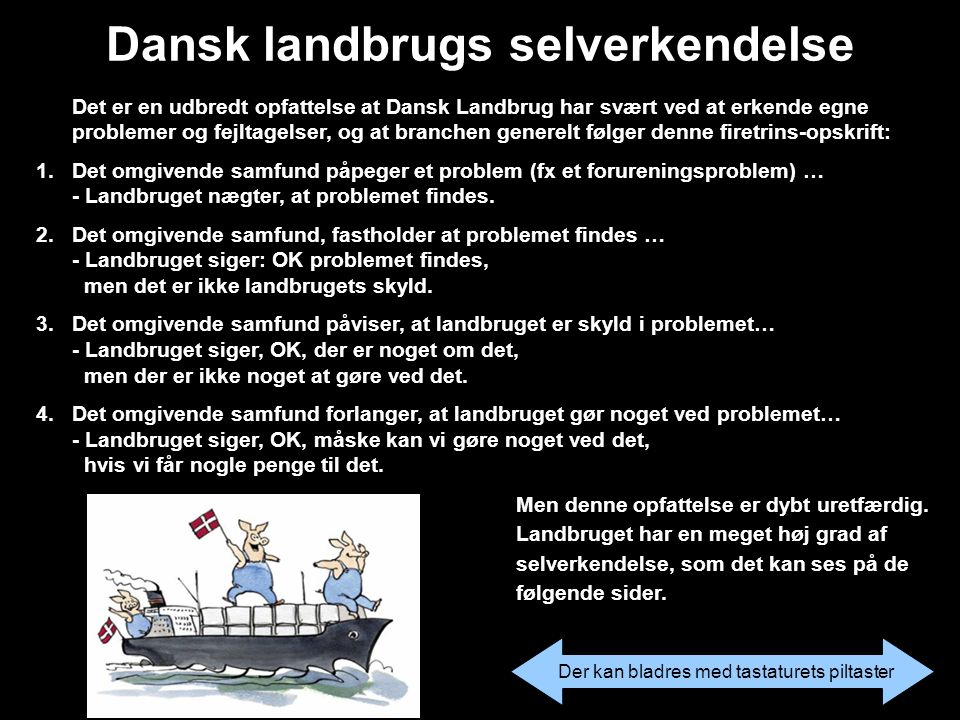 Dansk landbrugs selverkendelse