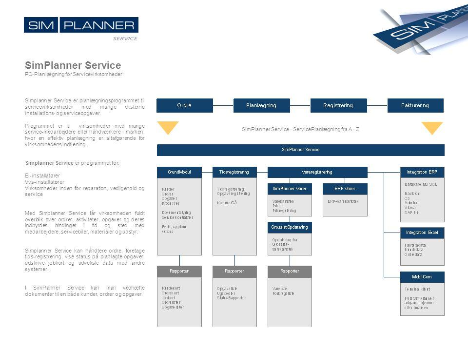 SimPlanner Service - ServicePlanlægning fra A - Z