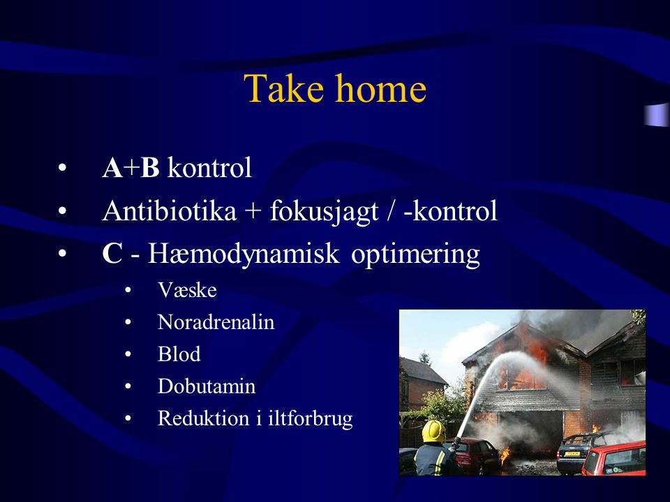 Take home A+B kontrol Antibiotika + fokusjagt / -kontrol