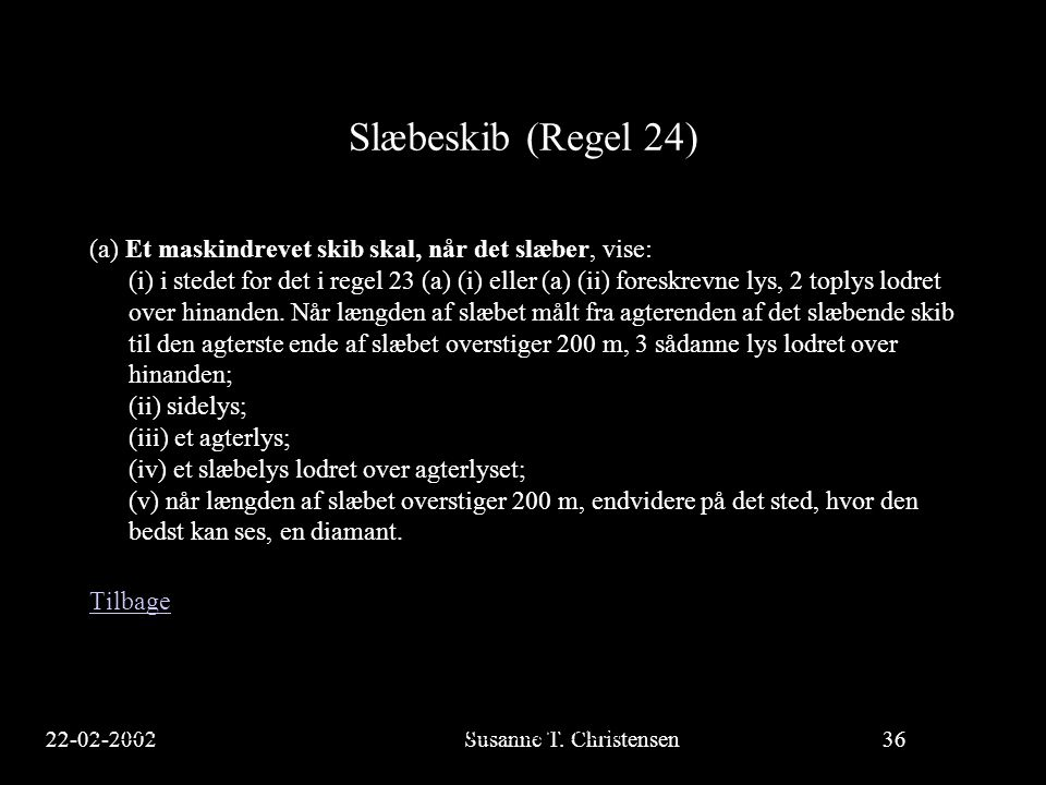 Slæbeskib (Regel 24)