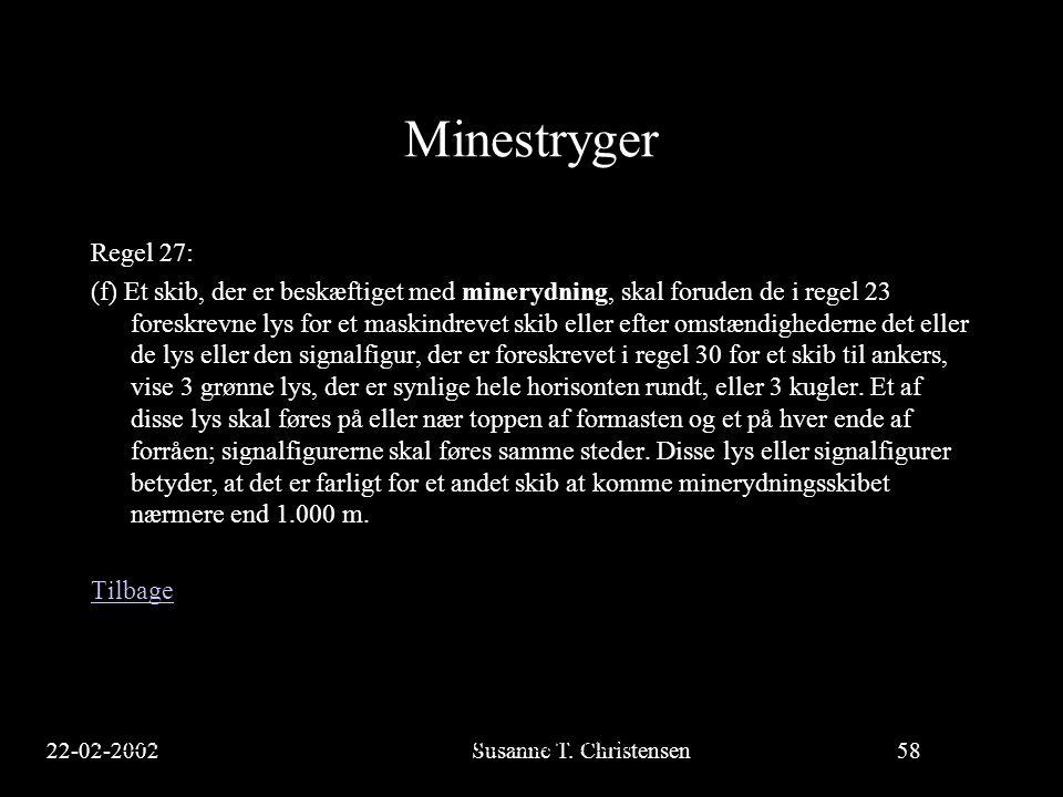 Minestryger Regel 27: