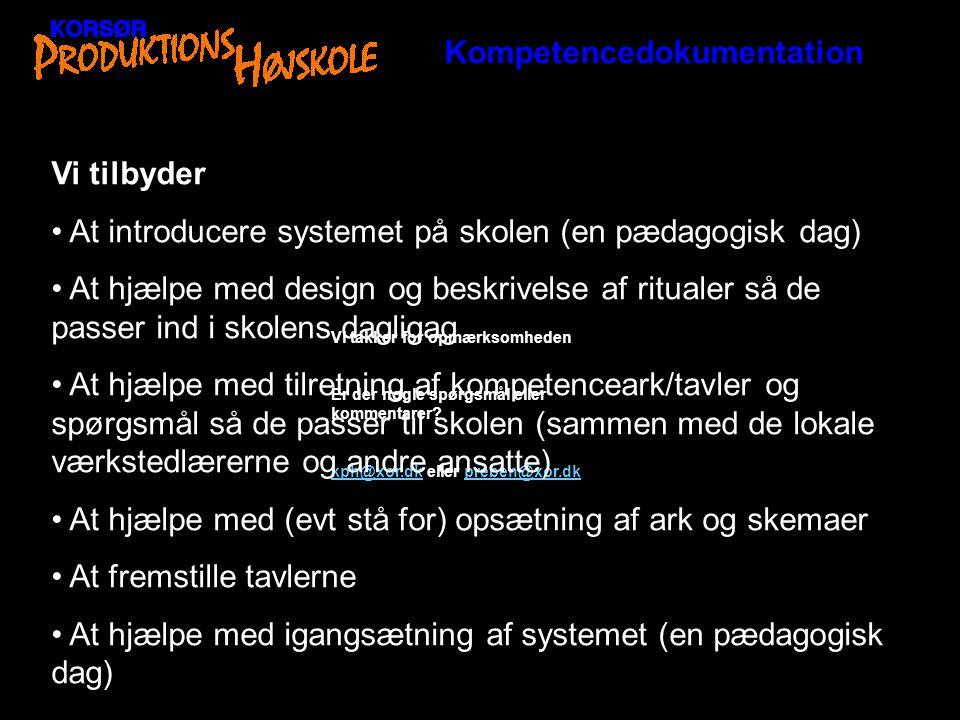 Kompetencedokumentation