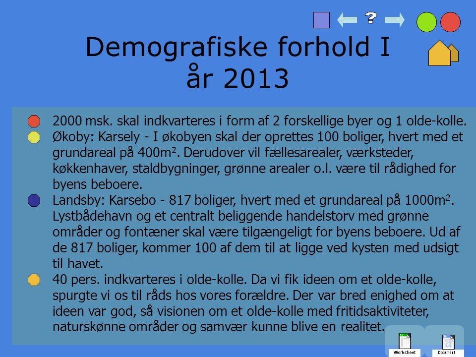 Demografiske forhold I år 2013