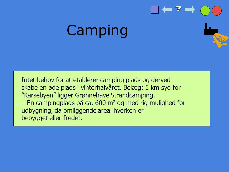 Camping Intet behov for at etablerer camping plads og derved
