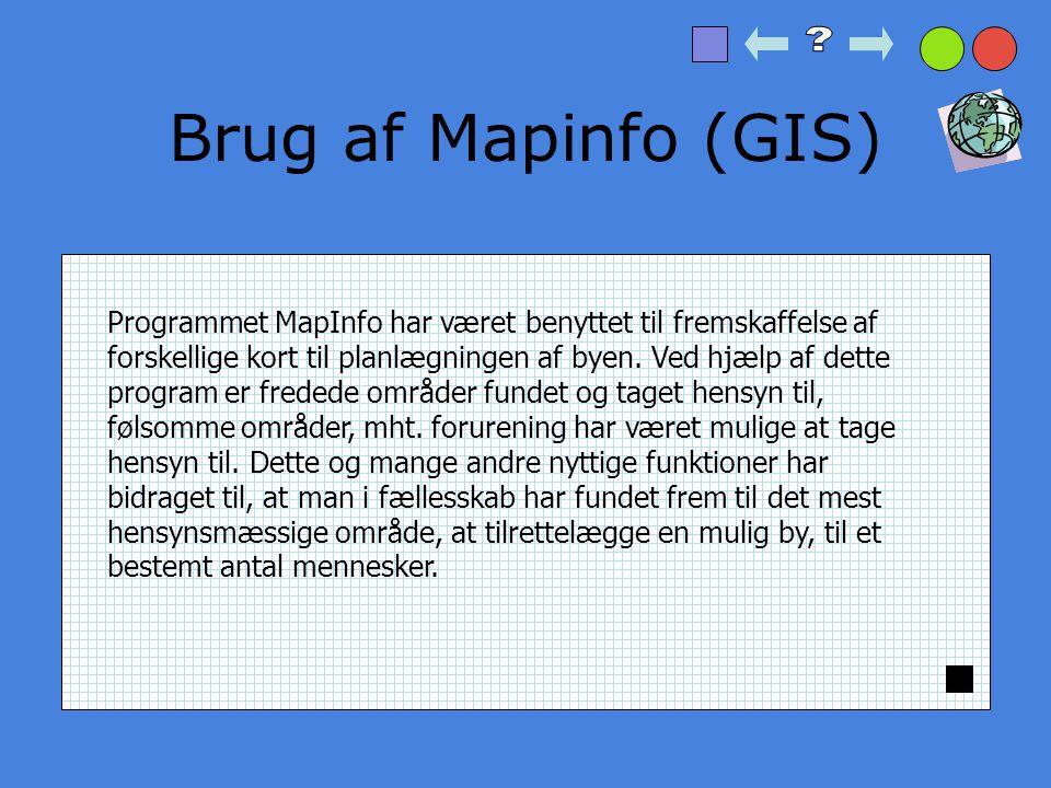 Brug af Mapinfo (GIS)