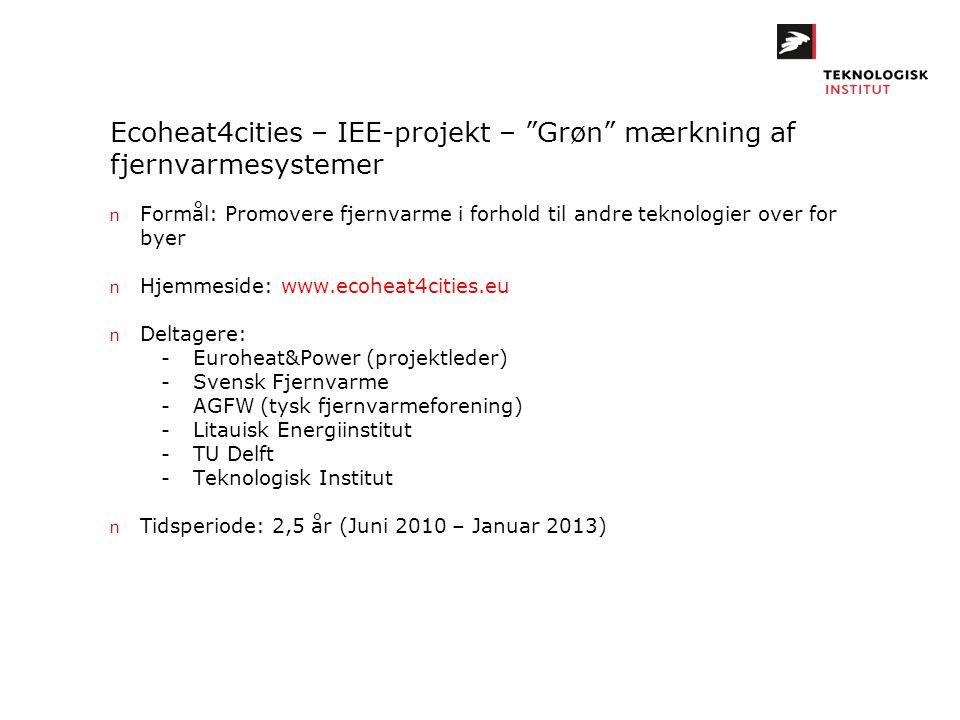 Ecoheat4cities – IEE-projekt – Grøn mærkning af fjernvarmesystemer