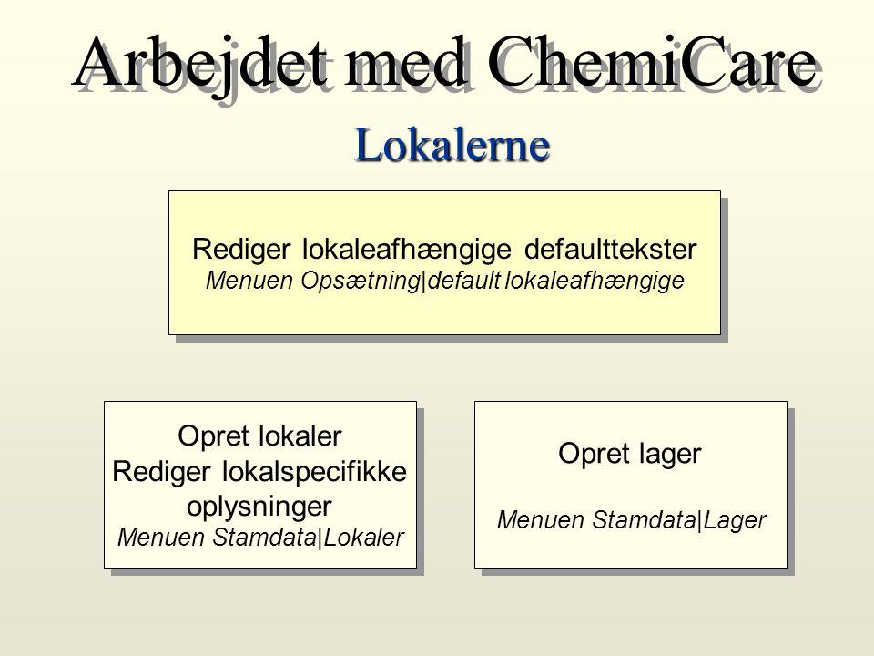 Arbejdet med ChemiCare