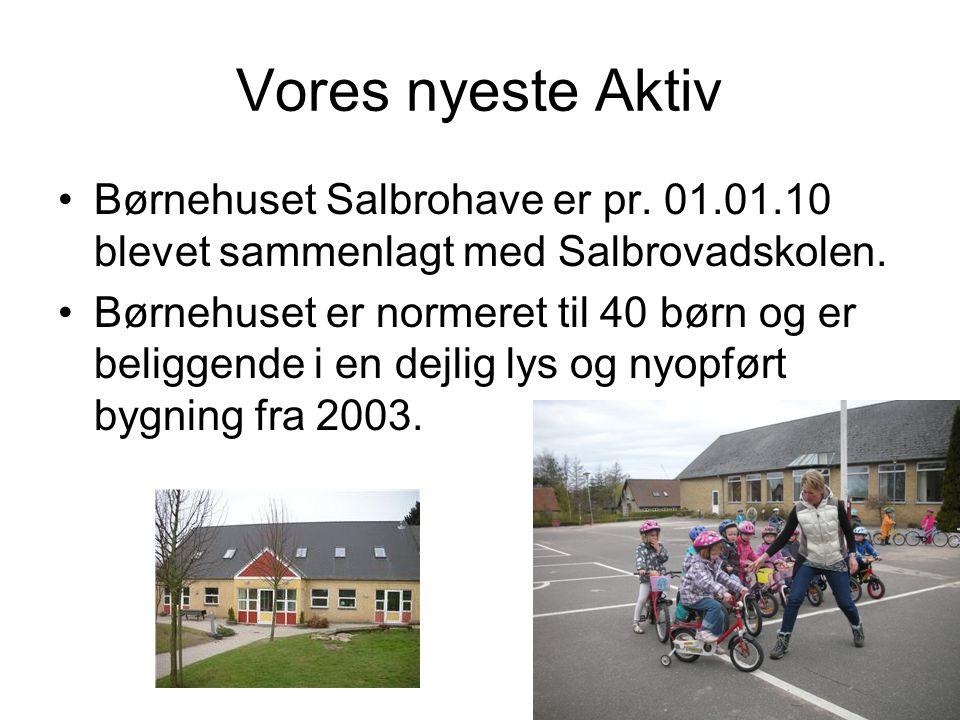 Vores nyeste Aktiv Børnehuset Salbrohave er pr. 01.01.10 blevet sammenlagt med Salbrovadskolen.