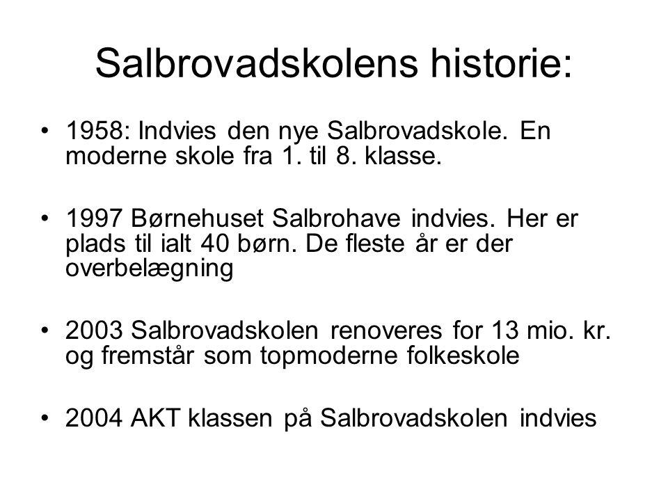 Salbrovadskolens historie: