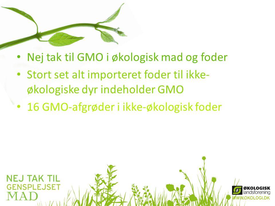 Nej tak til GMO i økologisk mad og foder
