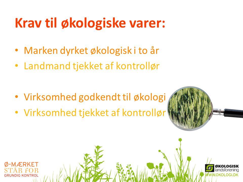 Krav til økologiske varer: