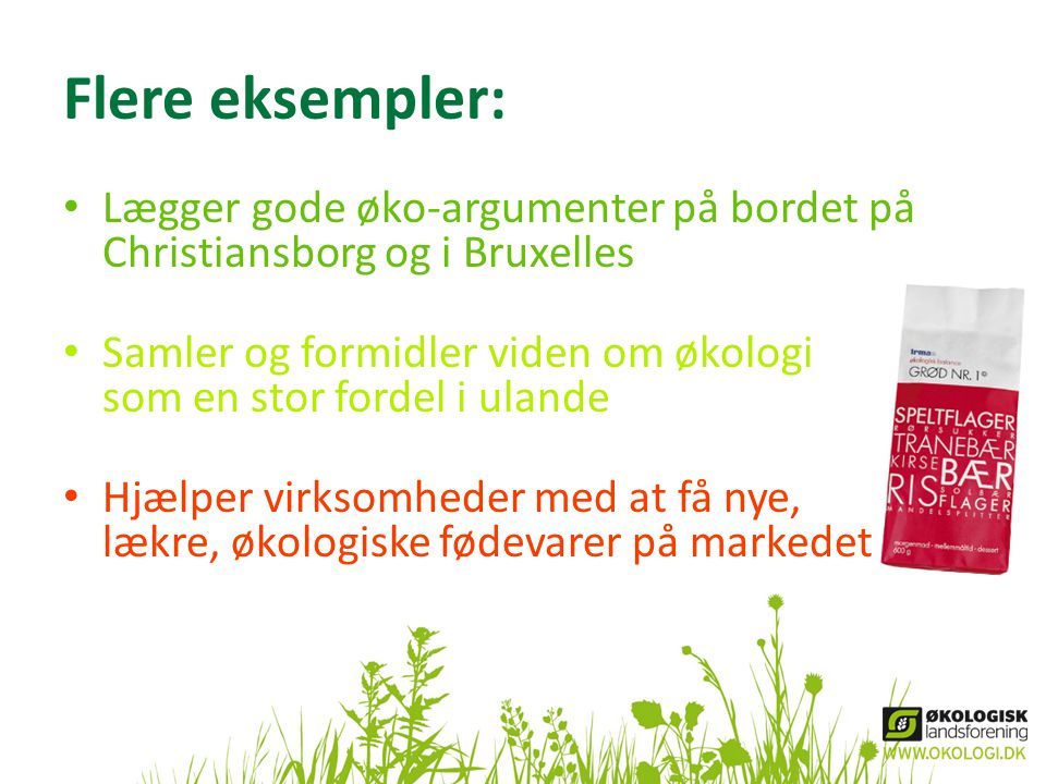 Flere eksempler: Lægger gode øko-argumenter på bordet på Christiansborg og i Bruxelles.