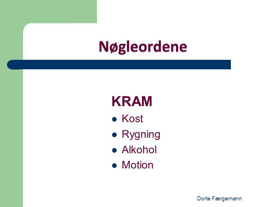 KRAM Kost Rygning Alkohol Motion Dorte Færgemann