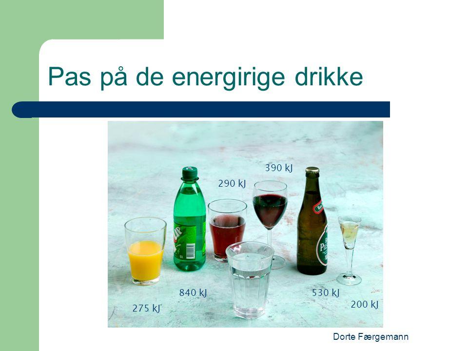 Pas på de energirige drikke