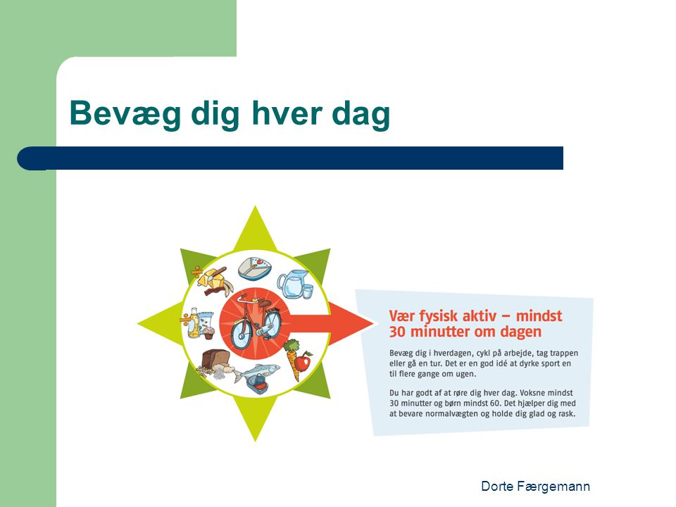 Bevæg dig hver dag Dorte Færgemann