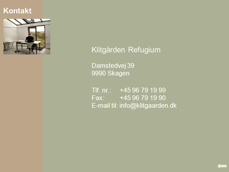 Kontakt Klitgården Refugium Damstedvej 39 9990 Skagen